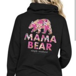 Simply southern mama bear cowl neck pullover